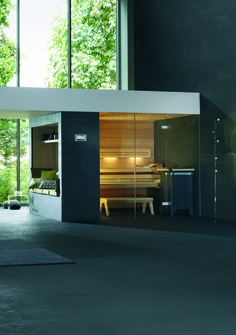 Klafs Lounge Q sauna fits perfectly into your home