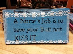Nurse sign  reclaimed wood sign hand by TeesTransformations