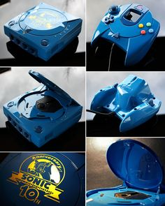 custom Sonic 10th anniversary Sega Dreamcast by Zoki64.deviantart.com on @DeviantArt
