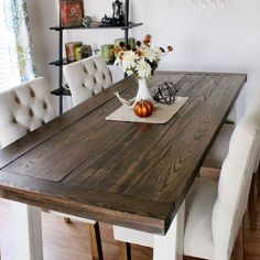 Beautiful Primitive Distressed Rustic Dark Walnut Stain Country Delectable Farm Style Dining Room Table Design Inspiration