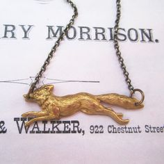 Fox Necklace now featured on Fab.