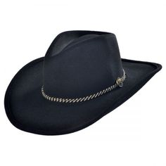 Rawhide Western Hat available at Cowboy Hat Styles, Pork Pie Hat, Western Cowboy Hats, Leather Hats, Hat Shop, Gentleman Style, Hats For Men, Westerns, Buffalo