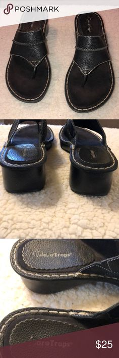 b60abdd9b14b BareTraps leather sandals Nelson size 7.5 medium A gently preowned pair of  women s flip flops by