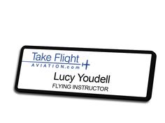 Take Flight Aviation Name Badge
