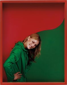 From Phillips, Elad Lassry, Girl (Green/Red) C-print in artist's frame, × cm Artistic Photography, Red Green, Color Combinations, Artsy, London, Artwork, Image, Figurative, Palette