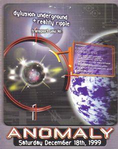 Anomaly Rave Flyer