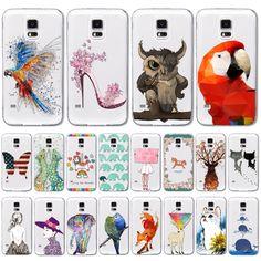 """Купить товарТелефон чехол, чехол для Galaxy S4 замечательный животное узор прозрачный мягкий ( WHD1417 1   20 ) в категории Сумки и чехлы для телефоновна AliExpress.          Это наш телефон случаях            Romantic Beautiful Scenery Soft Silicon Phone Cases For Apple iPhone 6 4.7"""""""