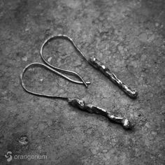Earrings from Moon Rock Collection named after lunar mare - Tranquillitatis. Made of  100 %  hand shaped sterling silver. Textured with black oxidized finish give it raw look like a solid stone. Silver Earrings, Silver Jewelry, Moon Rock, Rock Collection, Hand Shapes, Personalized Items, Sterling Silver, Stone, Bracelets