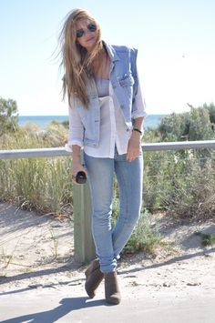 double denim done right