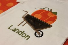 Wheelin' Pumpkin Applique Shirt by StealingKisses on Etsy, $18.00