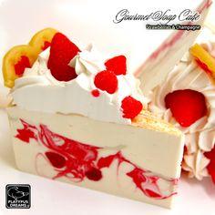 Strawberry Slice Soap Cake - Strawberries and Champagne. www.platypusdreams.com.au