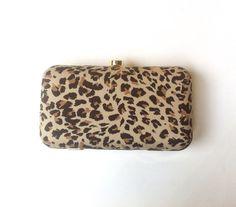 #Black #LEOPARD print BOX #CLUTCH #Bag #animal print by iThinkFashion, $55.00
