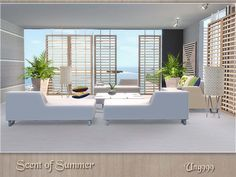 Scent Of Summer Modern Tropical Living Room By Ung999 - Sims 3 ... Sims 3 Wohnzimmer Modern