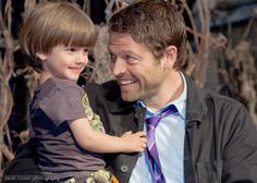 This right here is a dad that clearly adores his son.  Vegas 2014 :: Misha and West