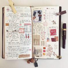 MTN ✍ Week 23  #midoritravelersnotebook #mtn #travelersnotebook #journal…