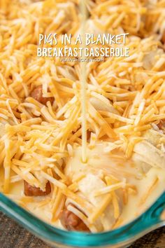 Pigs in a Blanket Breakfast Casserole - seriously the BEST! Crescent rolls dijon mustard lit'l smokies cheese eggs and milk. SO simple and SOOO delicious! Great for breakfast brunch lunch dinner and tailgating! I mean nothing says football food Breakfast Sausage Links, Savory Breakfast, Breakfast For Dinner, Breakfast Dishes, Breakfast Time, Best Breakfast, Breakfast Recipes, Group Breakfast, Chicken Breakfast