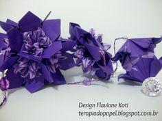 Móbile Origami Flora. Design Flaviane Koti