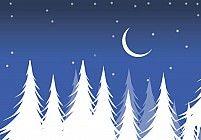 Illustration Of Christmas night