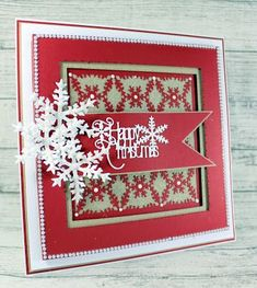 Happy Tuesday, Something a little brighter today and in more traditional colours of red and white ( OK I added a bit of Kraft card as we. Create Christmas Cards, Xmas Cards, Diy Cards, Christmas Crafts, Next Door, Birthday Cards, Red And White, Colours, Traditional