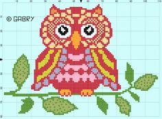 Owl pattern by Gabry PuntoCroce