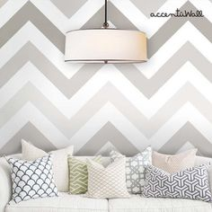Chevron Warm Grey Peel & Stick Fabric Wallpaper Repositionable Chevron Warm Grey Peel & Stick Fabric Wallpaper by AccentuWall Accent Wall Bedroom, Gray Bedroom, Bedroom Colors, Bedroom Decor, Accent Walls, Trendy Bedroom, Wall Accents, Bedroom Ideas, Pink Chevron Wallpaper