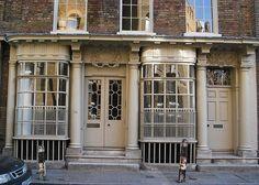 56 Artillery Lane, the oldest shop front in London, built 1756.