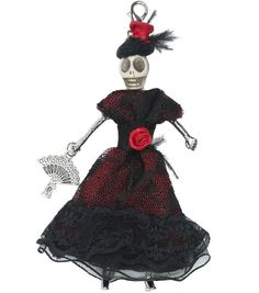 Laliberi Day of the Dead Doll Pendant-Scardelita