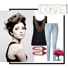 A fashion look from October 2015 featuring City Chic tops, Frame Denim jeans and Zara pumps. Browse and shop related looks.