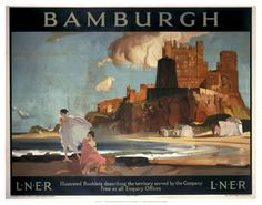 Bamburgh on VintageRailPosters.co.uk Prints