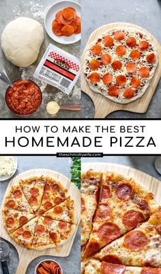 Everything you need to learn how to make the BEST Homemade Pizza. Making Pizza at home is actually pretty simple once you know the elements of good pizza like ingredients and a super hot oven! Homemade Pizza | Pizza at Home | Pizza Recipe | Pizza from scratch | Pizza Night Pizza Recipes, Whole Food Recipes, Cooking Recipes, Best Breakfast Recipes, Brunch Recipes, Dinner Recipes, Pizza Bake, Pizza Pizza, Pizza Bar Party