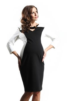 9Fashion Maternity Sharon Color Block Tunic/Dress