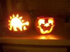 Thomas the train pumpkins and the o 39 jays on pinterest for Glow in the dark paint for real pumpkins