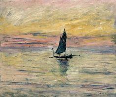 Claude Monet (1840-1926, France) | Voilier (effet de soirée), 1885 (Paris, Musée Marmottan)