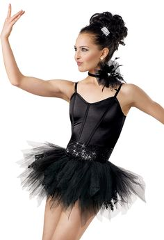 Stretch Satin Camisole Biketard; Weissman Costumes (with tutu)