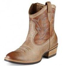 Womens Ariat Billie Short with Zipper Cowboy Boot - Herberts Boots and Western Wear