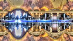 Osaka City Central Public Hall (Special room )  360-degree panorama at any multi-plane.