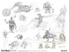FamousFrames Storyboards, Animatic Artists, Storyboard Artists, David Hudnut