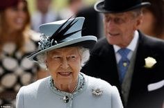 Favoured pastime: The Queen, a familiar face on all the major days in the horse-racing calendar, was greeted warmly on arrival at Epsom Racecourse in Surrey ahead of the Derby today