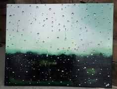 Wet Glass- Acrylic on canvas 11x14