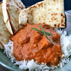 Slow Cooker Chicken Tikka Masala. Serve w/garlic Naan from Trader Joe's