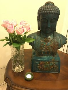 A candle and roses in loving memory of Bell ~ 22 Jan 2018 Jan 2018, In Loving Memory, Buddha, Roses, Candles, Memories, Statue, Art, Memoirs