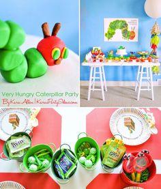 The Very Hungry Caterpillar Birthday Party via Kara's Party Ideas | Kara Allen KarasPartyIdeas.com #veryhungrycaterpillar #hungrycaterpillarparty #veryhungrycaterpillarparty