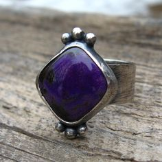 Royal Purple Sugilite Sterling Silver Ring  by LisasLovlies, $82.50