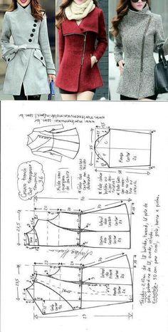 Manteau femme · Vestes, Manteaux, Couture Tutoriel, Tutos Couture, Couture  Tricot, Patronage, Patron 3fdc4f892bc