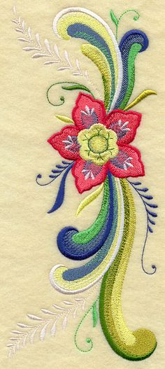 Rosemaling Floral Fancy design (G9939) from www.Emblibrary.com