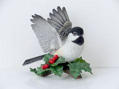 Vintage Lenox Chickadee Vintage Lenox Bird Fine Porcelaine Bisque Vintage Bird Figurine