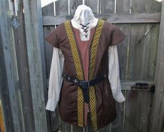 Hey, I found this really awesome Etsy listing at https://www.etsy.com/listing/226557247/celtic-vest-surcoat-dark-brown-faux