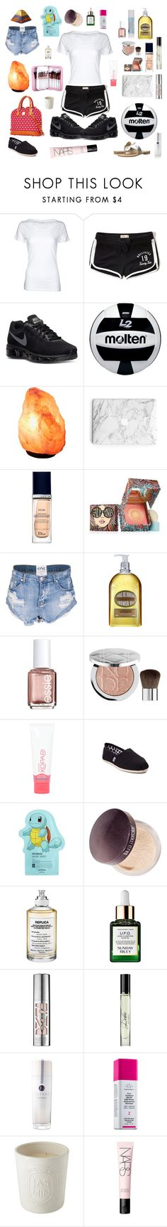 """Untitled #1314"" by mledoll ❤ liked on Polyvore featuring Simplex Apparel, Hollister Co., NIKE, Christian Dior, Benefit, OneTeaspoon, L'Occitane, Essie, Sephora Collection and Kopari"