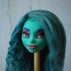 Mermaid Doll repaint Mermaid Dolls, Doll Repaint, Halloween Face Makeup