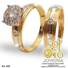 Dúo de boda en oro 14k con zirconia RD16,000